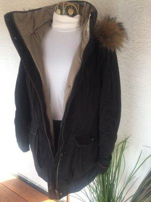 Fuchs Schmitt Hooded Coat black-beige