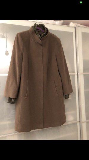 Fuchs Schmitt Abrigo de lana marrón grisáceo-gris verdoso