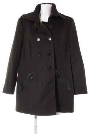 Fuchs Schmitt Abrigo de lana marrón grisáceo-negro estilo clásico
