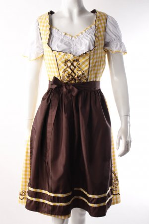 Fuchs Trachtenmode Dirndl blouse with yellow-brown