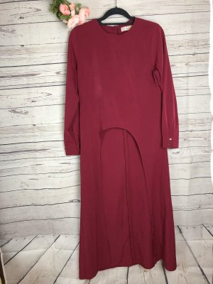 Vestido tipo túnica magenta-violeta