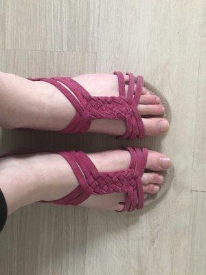 Fuchsiafarbene Sandalen ungetragen