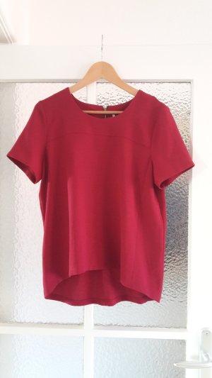 Topshop Blouse met korte mouwen magenta-framboosrood Polyester