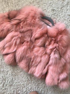 Veste de fourrure multicolore