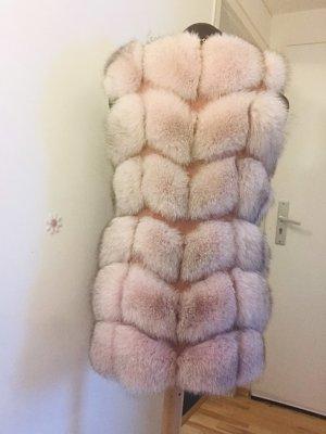Abrigo de piel multicolor