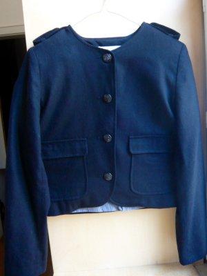für den Herbst ! schwarze kurze Jacke aus Wolle von Sessun Gr. L