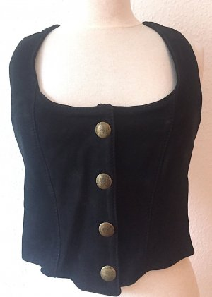 Corsage Top black leather