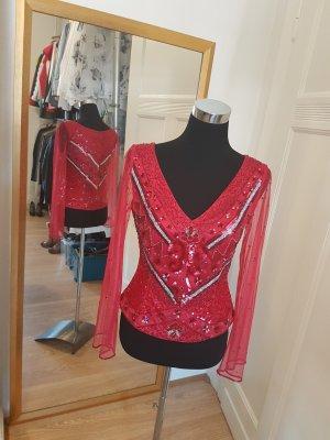 Alba Moda Corsage Top red