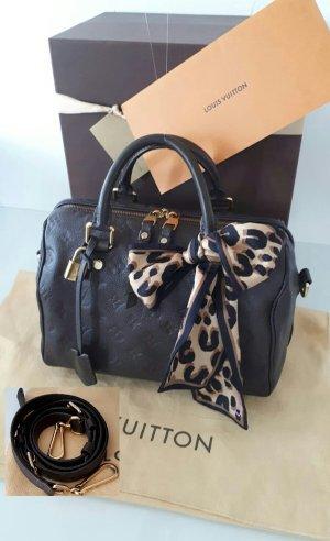 Louis Vuitton Sac à main brun foncé cuir
