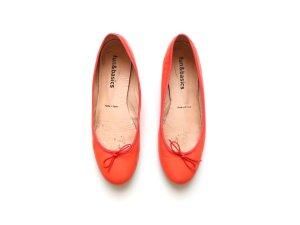 Fun & Basics Leder Ballerinas Gr. 40 39 coral orange pretty zalando