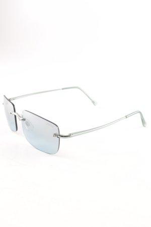 Funk ovale Sonnenbrille blassblau Casual-Look