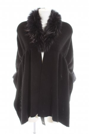 Funk Knitted Poncho black casual look