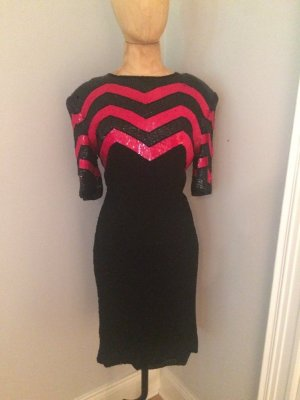 Funk Vintage Pailletten Kleid Gr. 36 top
