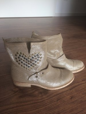 Low boot doré cuir