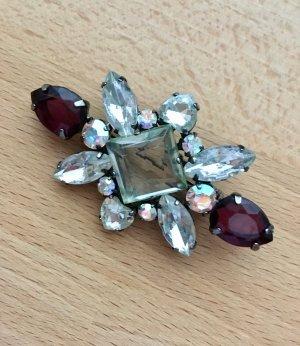 Broche multicolore métal