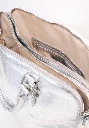 Funkelnde Silberne Shopping Bag