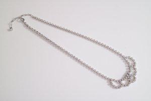 Funkelnde Tiara-Halskette mit Strasssteinchen