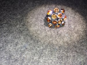 Funkelnder Ring aus Swarovski