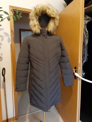 Polar Quilted Coat grey polyester