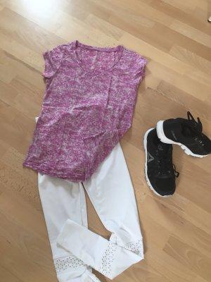 Camisa deportiva blanco-rosa