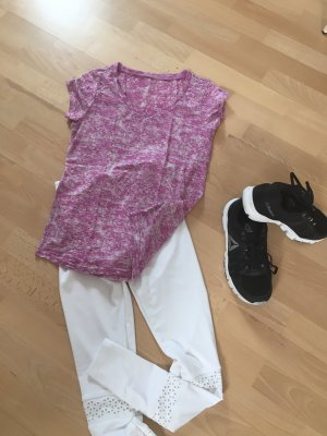 Sportshirt wit-roze