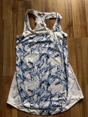 Camisa deportiva blanco-azul