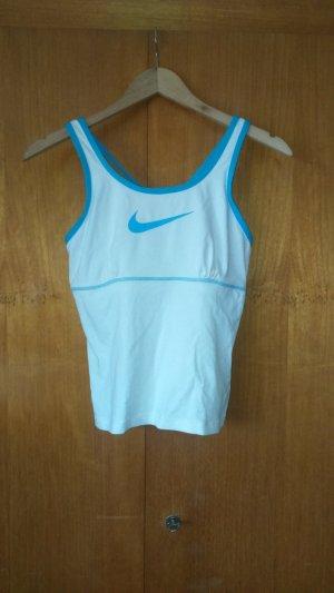 Nike Sporttop wit-turkoois Gemengd weefsel