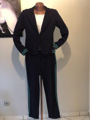 Funky Staff Tailleur pantalone blu scuro-petrolio Tessuto misto