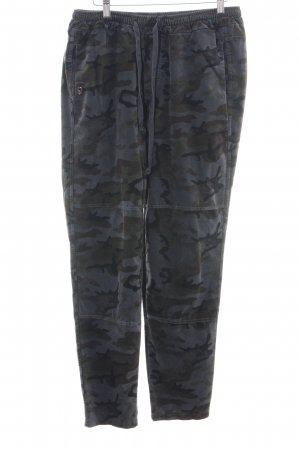 Funky Staff Stoffhose Camouflagemuster Casual-Look