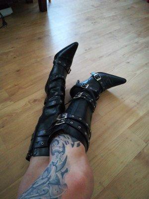 Funtasma Pleaser Stiefeletten Gr.37 Stiefel Absatz 10cm schwarz High Heels topp