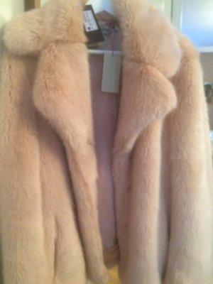 Stella McCartney Manteau en fausse fourrure rose clair-rosé pelage