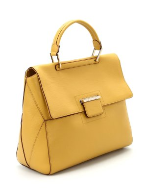 Furla Carry Bag dark yellow leather