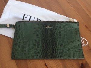 Furla Wallet khaki-grass green leather