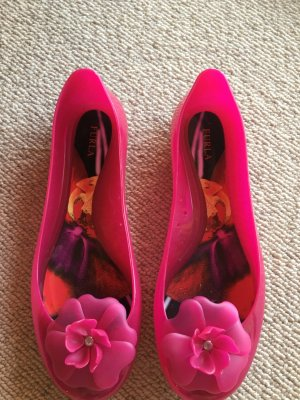Furla Foldable Ballet Flats pink synthetic material