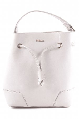 "Furla Borsellino ""Stacy S Drawstring Bucket Bag Marmo"" grigio chiaro"