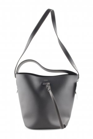 "Furla Buideltas ""Vittoria Small Bucket Bag Drawstring Leather Black "" zwart"