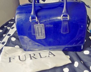 Furla Bowling Bag blue synthetic material