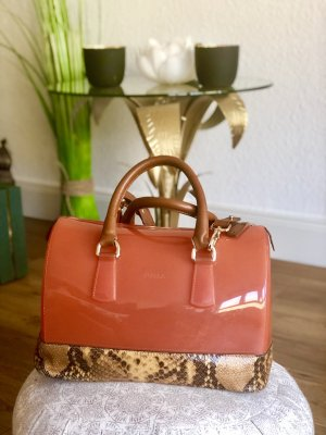 Furla Sac Baril orange fluo