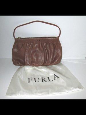FURLA CLUTCH BRAUN LOGO AUTHENTICITY CARD