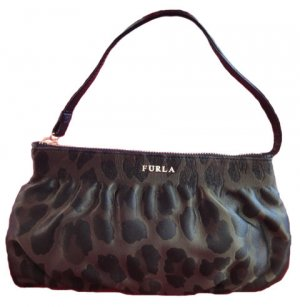 Furla-Clutch, Stoff, Camouflagemuster