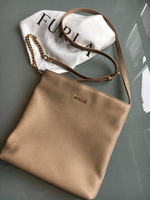 Furla Crossbody Bag beige gold Leder