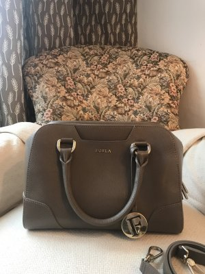 Furla Bowling Bag beige leather