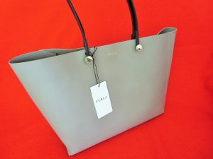 Furla Tote black-grey brown leather