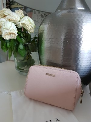 Furla Pochette rose-gold-coloured-sand brown leather