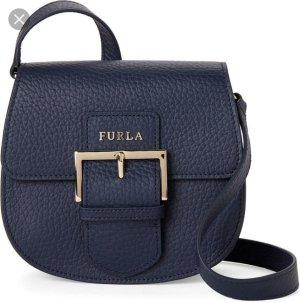 Furla Flo Saddle Bag Leder Dunkelblau Neu