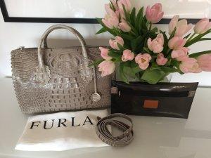 Furla Futura Bauletto Tasche mit Krokodilprägung