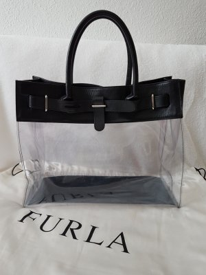 Furla Tote white-black nylon