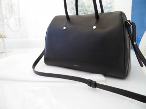 Furla Bowling Bag black-gold-colored leather
