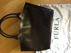 Furla Carry Bag black brown leather