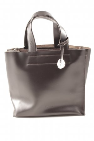Furla Handtasche dunkelbraun-silberfarben Elegant